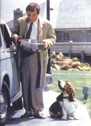 Columbo with Basset Hound